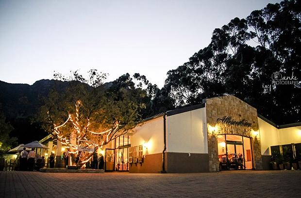 Allesverloren Wedding Venue Riebeek Kasteel Reception Lights Dark