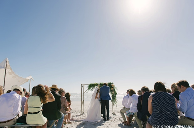 Wedding Ceremony on the Beach Cape Town