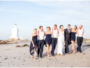 Wedding Party Walking on Beach Sea Trader St Helena Bay West Coast